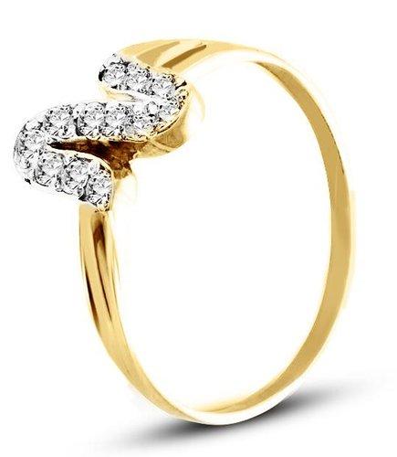 Pierścionek z żółtego złota (AGP17G)