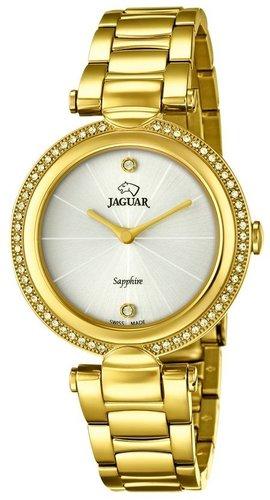 Złoty szwajcarski zegarek marki Jaguar